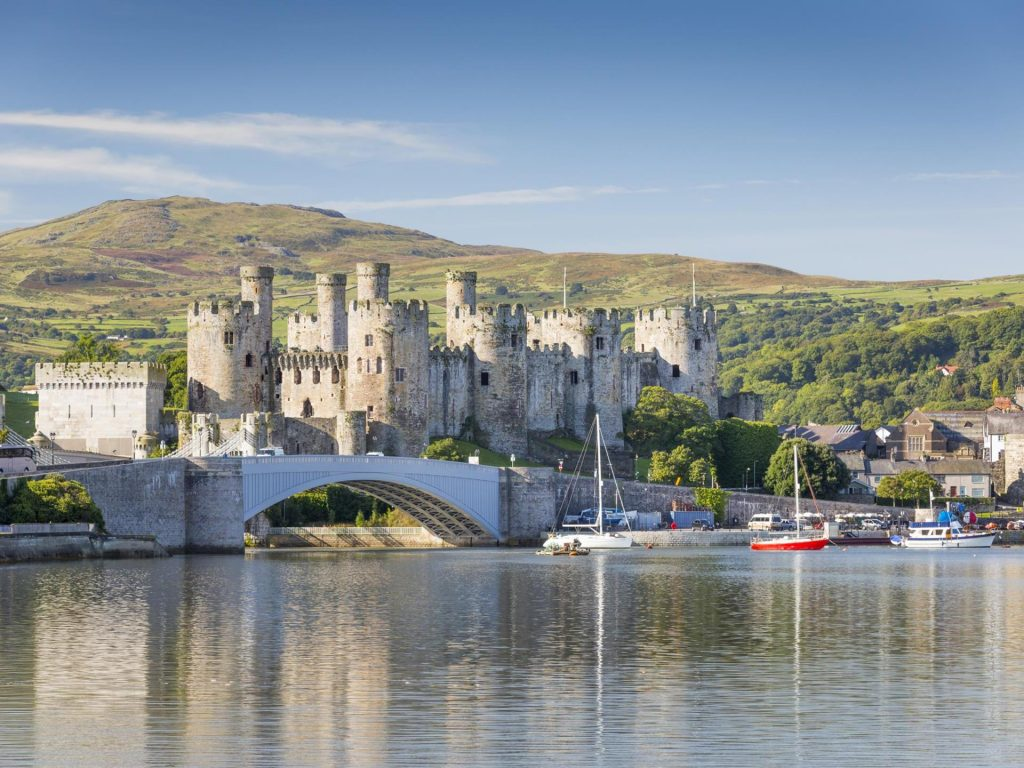 Conwy Castle in North Wales